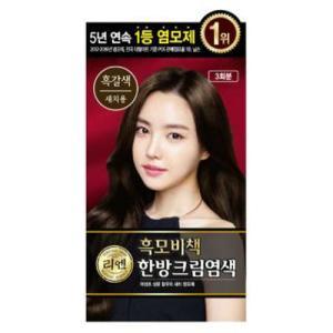 [리엔] 흑모비책 크림 염색약 [흑갈색] 120g*2