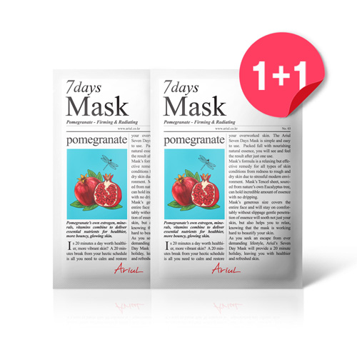 [아리얼] 7days 마스크팩 1+1 [석류] 40g