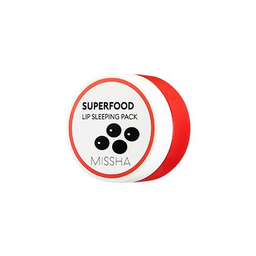 [미샤] 슈퍼푸드 검은콩 립 슬리핑팩 7g